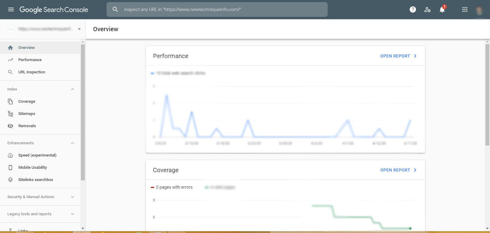 google search console newtechniqueinfo